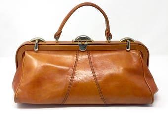 1970 Doctor bag/Bora vintage leather/Leather