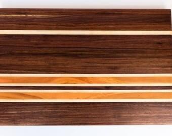 Edge Grain Cutting Board - Black Walnut, Cherry, Maple