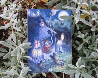 Illustration - Baba Yaga - print