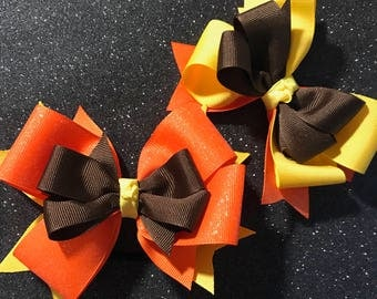Fall Boutique Stacked Hairbow