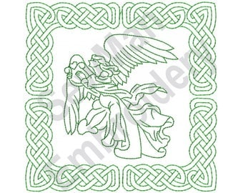 Celtic Knot Square - Machine Embroidery Design, Celtic Knot