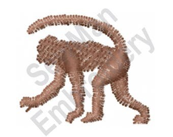 Monkey - Machine Embroidery Design