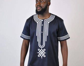 Dashiki design Beautifully, With Beautiful white thread embroidery.