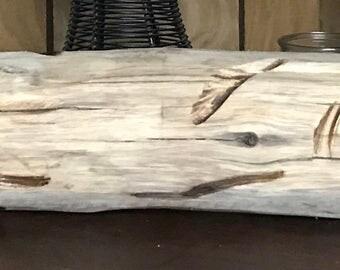 Rustic driftwood log
