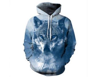 Wolf Hoodie, Wolf, Wolf Hoodies, Animal Prints, Animal Hoodie, Animal Hoodies, Wolves, Hoodie Wolf, Hoodie, 3d Hoodie, 3d Hoodies - Style 33