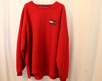 Vintage 90s Tommy Hilfiger Fleece Crewneck - XL