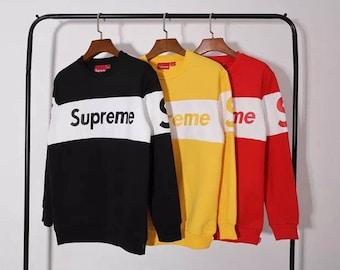 supreme stripe crewneck sweatshirt