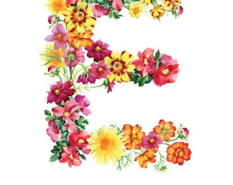 Letter E Print - Nursery Art