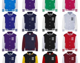 Personalised Adults Varsity Jacket