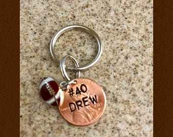 Custom lucky penny key chain, sport gift, kids sports gift, boyfriend/girlfriend gift, mother/father gift, grandparent gift