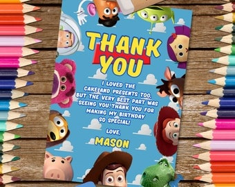 Toy Story Thank You Card. Toy Story Thank You Note. Toy Story Digital Thank You Card. Toy Story Printable. Toy Story Thank You.