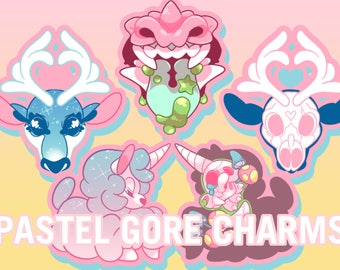 Pastel Gore Decoden Charms