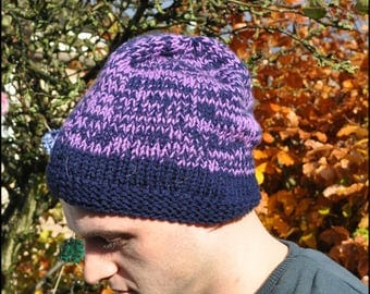 Beanie Hat, Hand Knitted Hat, Hat for Him, Hat for Her, Adult Hat, Unisex Beanie Hat, Stocking Filler, Secret Santa Gift, Knitted Hats, Hat