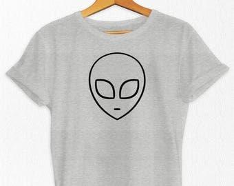 Alien T Shirt - Alien Shirts - UFO T Shirt - Sci - Fi Shirts - Science Fiction - Gray Alien - Graphic T Shirts - UFO Shirts