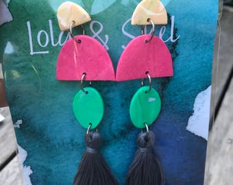 Statement earrings  with tassel