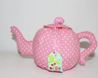 Decorative tea pot made of fabric