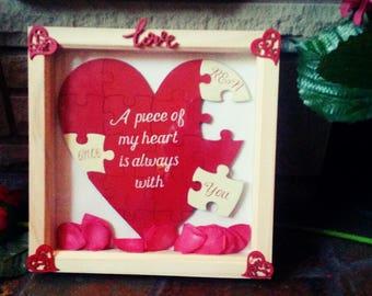 Personalised valentines heart