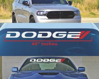 DODGE Windshield Decal Mopar Vehicles Challenger Charger se RT srt8 RAM 1500 2500 Vinyl Sticker Graphics
