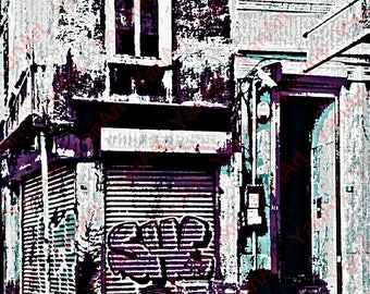 Street/Corner in Istanbul, Turkey, Graffiti Mural, Digital Art, Art Prints or License for Art Prints