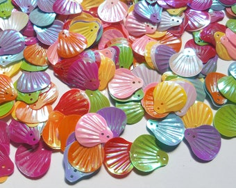 Seashell sequins, Shell sequins, Mermaid shell sequins, AB Plated sequins, Sequins, Seashell, Shell, Scrapbooking, Craft sequins, Sequin art