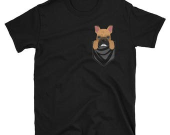 Funny Fawn French Bulldog Pocket T-Shirt Cute Dog Gift