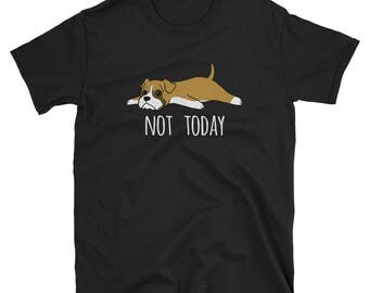 Funny Not Today Boxer T-Shirt, Cute Boxer Gifts