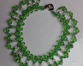 Crystal green Ankle bracelet