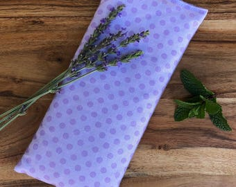 Heating Pad - Microwavable Bean Bag - Flax Seed Pad - Lavender Hot Pack - Stress Relief Gifts - Aromatherapy Eye Pad - Heat Therapy Pillow