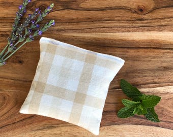 Microwavable Bean Bag - Lavender Heating Pad - Microwave Pad - Peppermint Hot Pack - Flax Seed Bag - Hot Pack - Cold Pack - Aromatherapy Spa