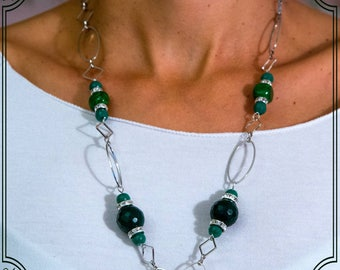 Agate and Green Jade