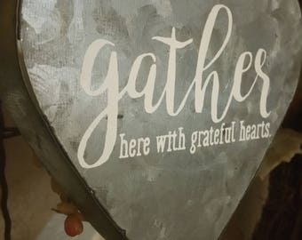 Gather Metal Heart Hanging Decor