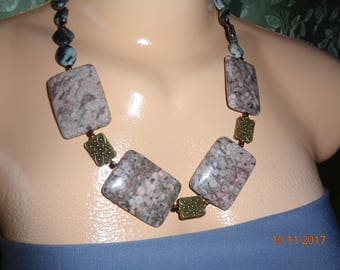 "Gift for Unisex, for him and her. Jewelry set natural stone Jasper and lauricate - jewelry set from semiprecious stones ""Jasper"""