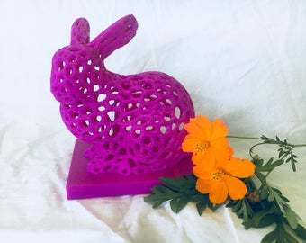 Gift for wife etsy bunny bright purple centrepieces egg hunt rabbit bunny print bunny rabbit easter decorations easter egg easter negle Image collections
