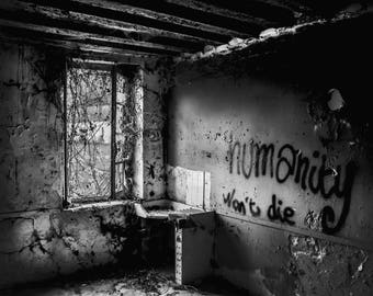 The abandoned farm in a french village, urbex, wall art, tag,home decoration