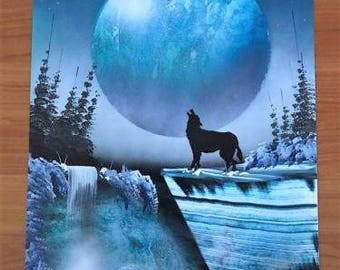Wolf - Spray Paint Art