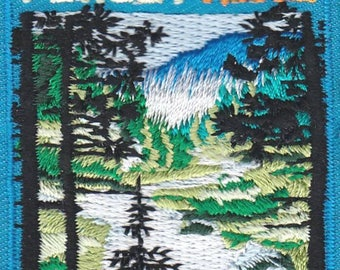 Forest Hike Patch - Hiking, Outdoors, Nature, Iron On Embroidered Applique,