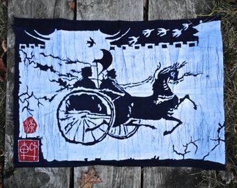 Tapestry wall hanging/Handmade Batiks/Dorm Decor
