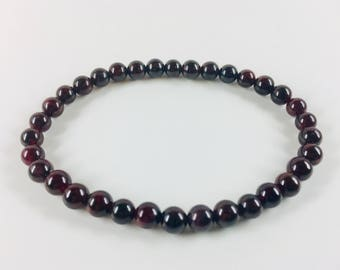Garnet stretch bangle bracelet