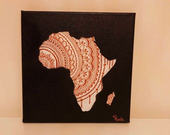 Painting Africa henna
