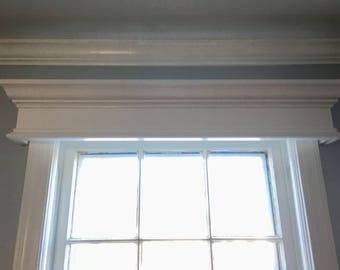 Custom Made Wood Window Valance Cornice