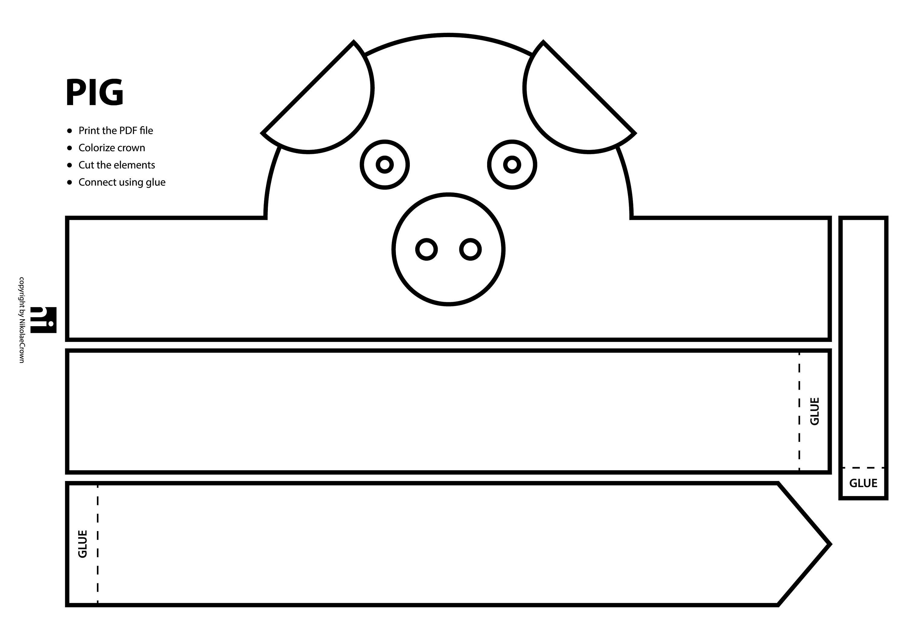 Paper face mask template free blank time sheets farm animal paper crown printable coloring crown coloring il fullxfull farm animal paper crown printable pronofoot35fo Choice Image
