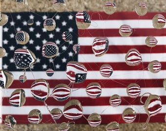 Distorted American Flag