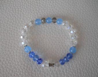 Bracelet for women. Rock crystal, quartz.