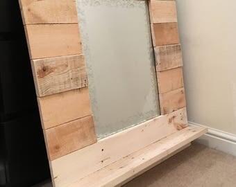 Wooden Crate Mirror