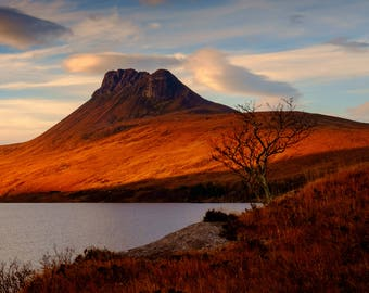 """Stac Pollaidh: 5"""" x 7"""" Greeting Card, Blank inside, with envelope"""