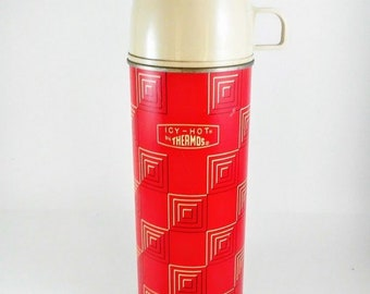 Vintage 1963 ICY-HOT THERMOS Pint Size Bottle #2210 King Seeley Thermos Co.