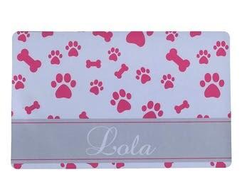 Personalized Dog Placemat - Dog Placemat, Cat Placemat, Customized Placemat, Pet Food Mat, Rubber Placemat