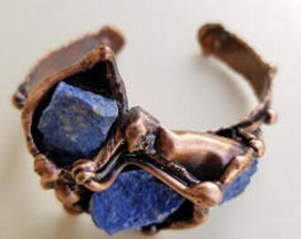 Copper Bracelet with Lapis