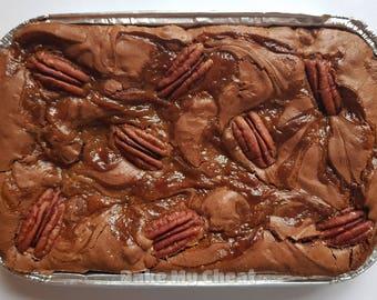 Belgian Chocolate Caramel Pecan Brownie Tray