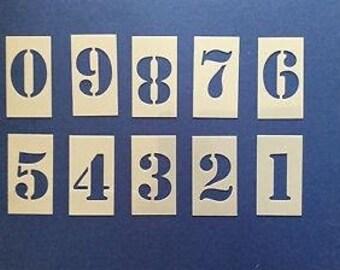Number stencil stencil Malschablone Airbrush